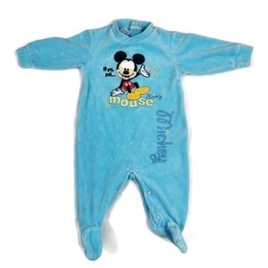 🔥10/$20 Disney Mickey Mouse Velour Sleeper 6m